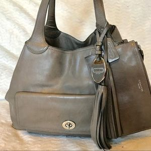 Coach Legacy American Icon XL Tote Elephant Gray
